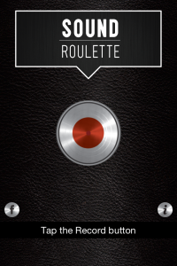 sound roulette record screen